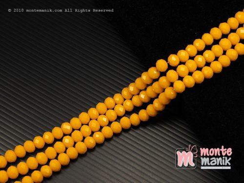 36 Butir Kristal Ceko Roundell Dove 8 mm Kuning (KRISTAL-089)