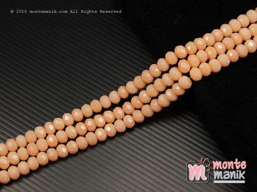 36 Butir Kristal Ceko Roundell Dove 8 mm Peach (KRISTAL-099)