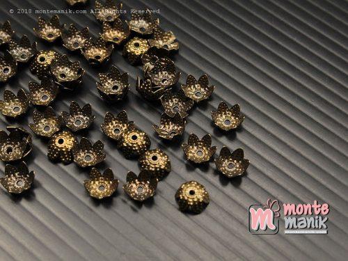 50 Pcs Cangkang Bunga Cakram 6 mm Hijau Bakar (CKB-034)
