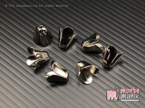 8 Pcs Cangkang Bunga Nikel 12 mm (CKB-043)