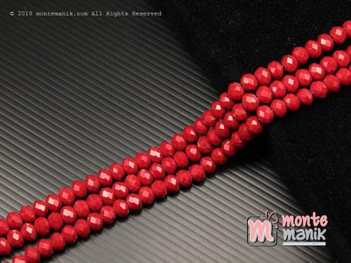 36 Butir Kristal Ceko Roundell Dove 8 mm Merah tua (KRISTAL-0101)