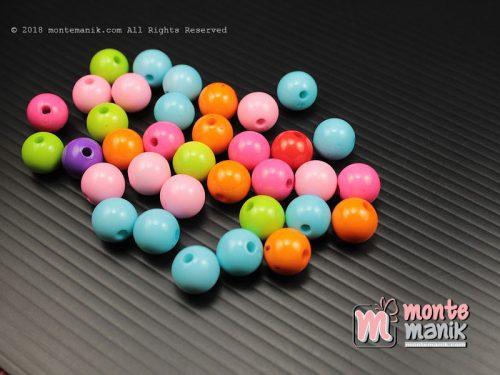 35 Pcs manik Plastik Bulat 8 mm (MPA-0174)