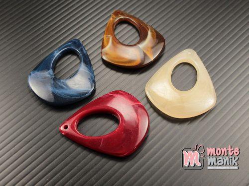 4 Pcs Manik Akrilik Marmer Liontin 4 x 3,5 cm (MPA-0176)