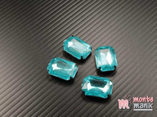 4 pcs Aplikasi Diamond Persegi Biru 1,3 x 1,8 cm (DMD-062)