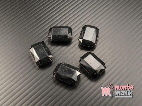 4 pcs Aplikasi Diamond Persegi Hitam (DMD-061)