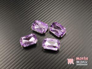 4 pcs Aplikasi Diamond Persegi Ungu muda 1,3 x 1,8 cm (DMD-063)