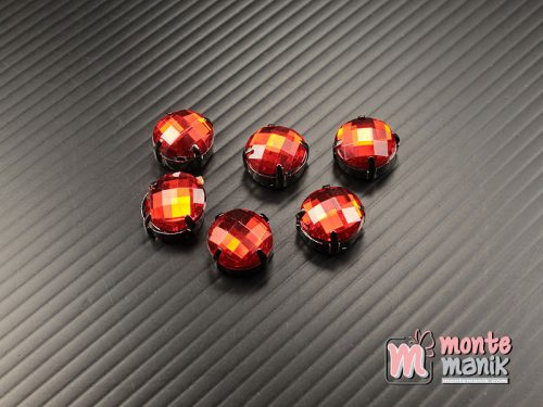 5 pcs Aplikasi Diamond Bundar Merah 12 mm (DMD-067)