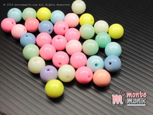 32 Butir Manik Plastik Bulat 10 mm Pastel (MPA-0180)