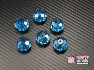 12 Biji Manik Kristal Ceko Donat Biru 14 mm (KRISTAL-127)