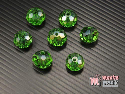 12 Biji Manik Kristal Ceko Donat Hijau 14 mm (KRISTAL-126)