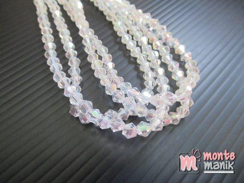 1 String Manik Kristal Ceko Bicone 4 mm Clear (KRISTAL-128)