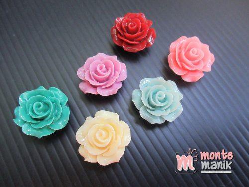 10 Buah Resin Bunga Mawar 2 cm (MRI-023)