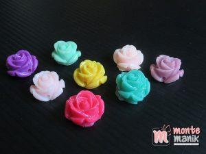 10 Buah Resin Bunga Mawar Mini 1 cm (MRI-025)