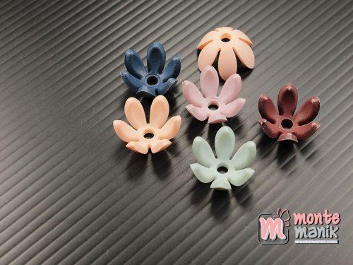 12 Buah Akrilik Bunga Pastel 15 mm (MPA-0183)