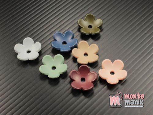 12 Buah Akrilik Bunga Pastel 15 mm (MPA-0184)