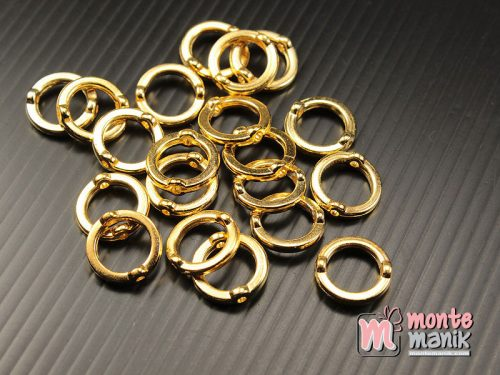30 pcs Pembatas manik Plastik Ring O Emas 10 mm (SPACER-048)