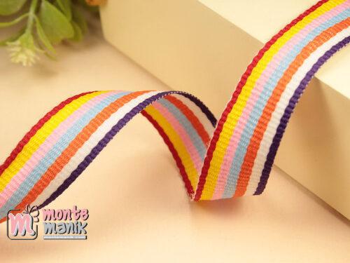 1 Yards Pita Trim striped Warna Warni 2 cm (PITA-250)