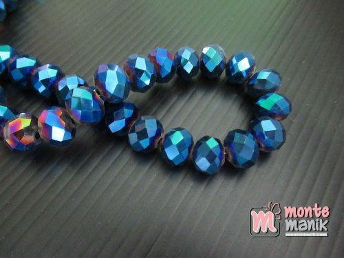 12 Butir Kristal Metalik Biru 10 mm (KRISTAL-141)