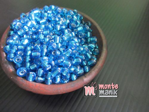 25 Gram Manik Pasir Bening 6 oz Biru (MPB-017)