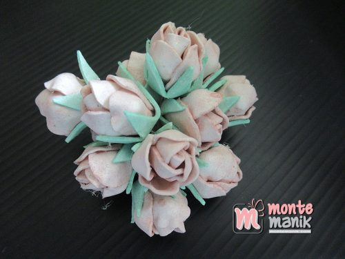 6 Tangkai Bunga Spon Kuncup Coklat 2 cm (APA-18)