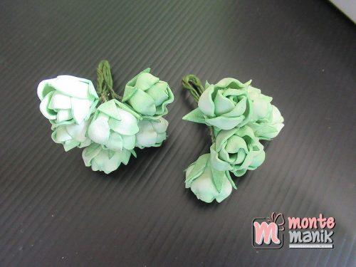 6 Tangkai Bunga Spon Kuncup Hijau 2 cm (APA-17)