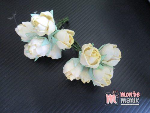 6 Tangkai Bunga Spon Kuncup Kuning 2 cm (APA-19)