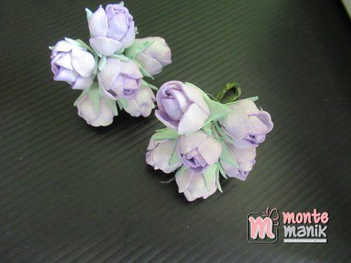 6 Tangkai Bunga Spon Kuncup Ungu 2 cm (APA-22)
