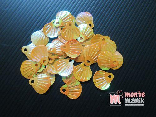 50 Biji Sequin Kerang 18 x 20 mm Orange SQ-03