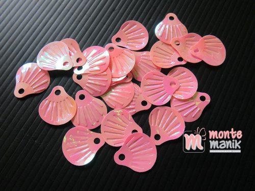 50 Biji Sequin Kerang 18 x 20 mm Pink SQ-04