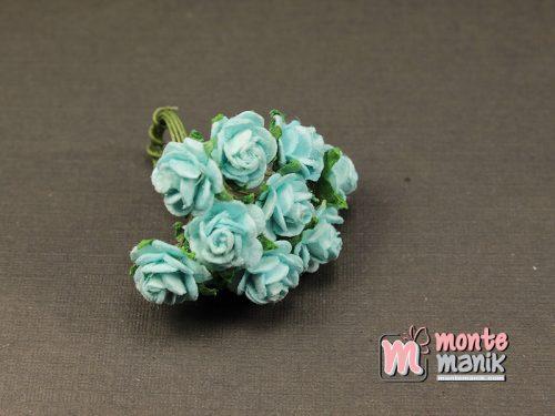 1 Ikat Bunga Mawar Kertas Biru 1 cm (APA-28)