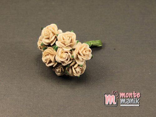 1 Ikat Bunga Mawar Kertas Coklat Muda 1 cm (APA-37)
