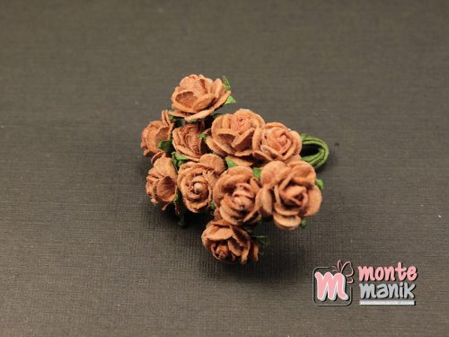 1 Ikat Bunga Mawar Kertas Coklat Tua 1 cm (APA-30)