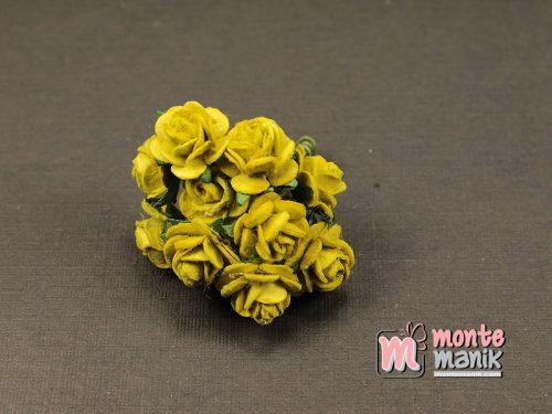 1 Ikat Bunga Mawar Kertas Hijau 1 cm (APA-25)