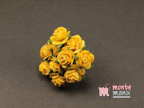 1 Ikat Bunga Mawar Kertas Kuning 1 cm (APA-24)