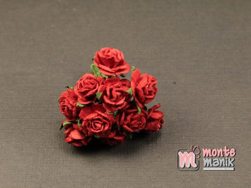 1 Ikat Bunga Mawar Kertas Merah 1 cm (APA-29)