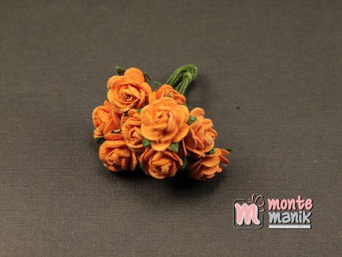 1 Ikat Bunga Mawar Kertas Orange 1 cm (APA-33)