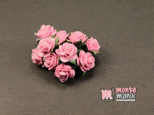 1 Ikat Bunga Mawar Kertas Pink 1 cm (APA-27)