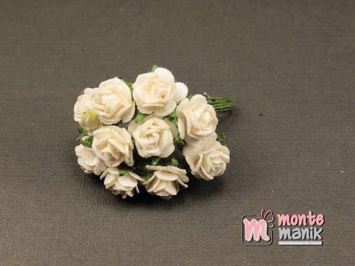 1 Ikat Bunga Mawar Kertas Putih 1 cm (APA-31)