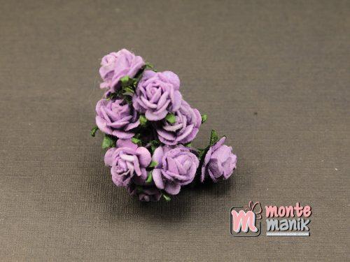 1 Ikat Bunga Mawar Kertas Ungu 1 cm (APA-32)
