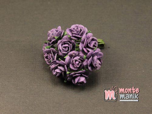 1 Ikat Bunga Mawar Kertas Ungu Tua 1 cm (APA-26)
