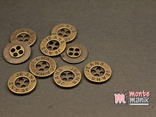 10 Butir Kancing Logam Hijau Bakar 1,4 cm (KPK-010)