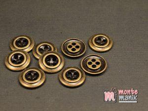 10 Butir Kancing Logam Hijau Bakar 1,4 cm (KPK-011)
