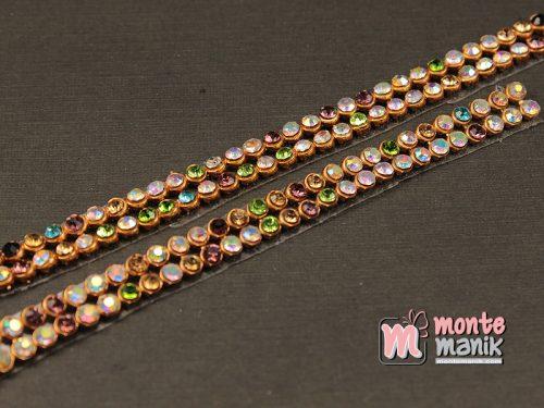 2 Baris Aplikasi Diamond Tikar Emas Campur Warna (DMD-075)