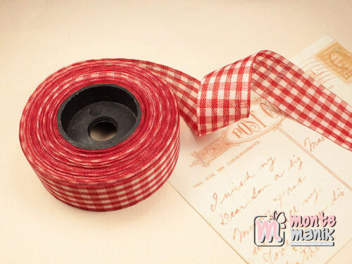 1 Roll Pita Gingham Merah 2,5 cm GM03