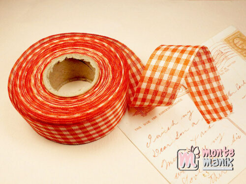 1 Roll Pita Gingham Orange 2,5 cm GM04