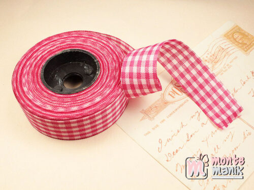 1 Roll Pita Gingham Pink Tua 2,5 cm GM11