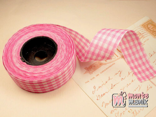 1 Roll Pita Gingham Soft Pink 2,5 cm GM05