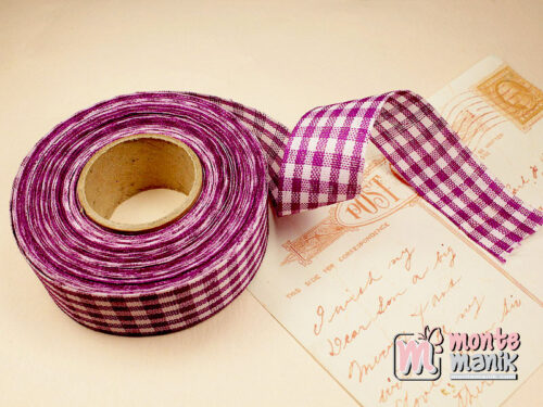 1 Roll Pita Gingham Ungu 2,5 cm GM10