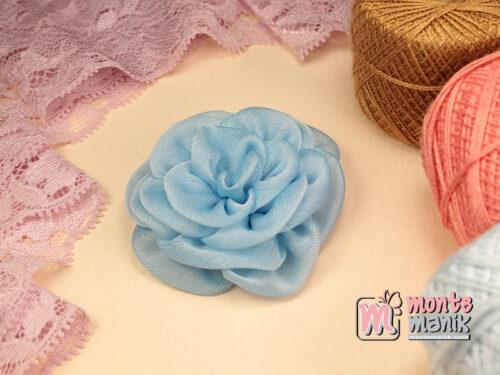 1 Buah Bunga Kain 5,5 cm Biru Muda (APB-182)