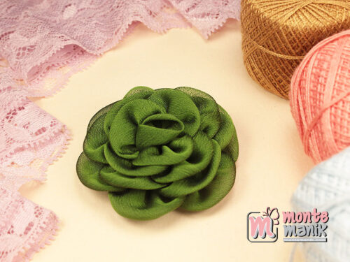 1 Buah Bunga Kain 5,5 cm Hijau Tua (APB-186)
